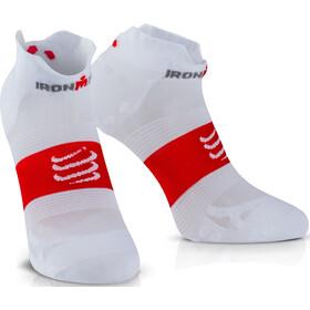 Compressport ProRacing V3 UltraLight Run Low Socks Ironman 2017 smart white